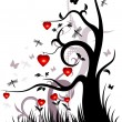 Valentine background - Stok Vektr