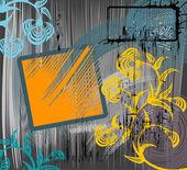Grunge floral background — Stock Vector