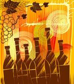 Sonbahar şarap — Stok Vektör