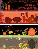 カフェ バナーのデザイン テンプレート — ストックベクタ