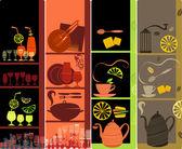垂直咖啡馆横幅 — 图库矢量图片