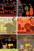 Grunge sjablonen ontwerpen van menu — Stockvector