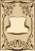 Art nouveau frame — Stockvector