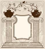 古代の背景 — ストックベクタ