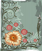 Vintage floral background — Vector de stock