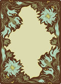 Vintage frame with the flowers — Vector de stock