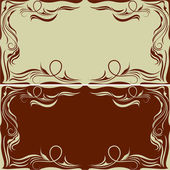 Vintage horizontal frames — Stock Vector