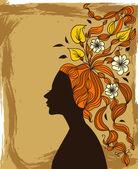 Autumnal girl — Stock Vector
