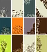 Tarjetas florales — Vector de stock
