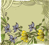 Grunge background with the flowers — Stock Vector