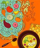 De soep — Stockvector