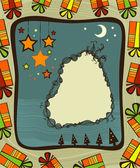 Christmas frame — Stockvector