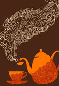 Tea break — Vector de stock