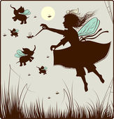 The small fairy — Vector de stock