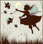 小さな妖精 — ストックベクタ