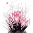 The crocuses - Imagen vectorial