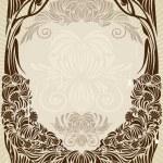 Art nouveau frame — Stock Vector #1474042