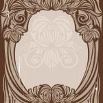 Art nouveau frame — Stock Vector #1474067