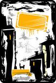 Grunge 城市背景 — 图库矢量图片