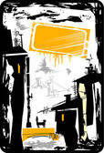 Urbano fundo grunge — Vetorial Stock