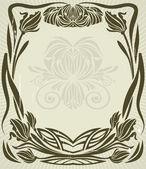 Cadre de style art nouveau — Vecteur