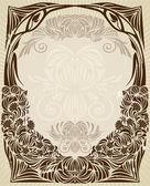 Moldura art nouveau — Vetorial Stock