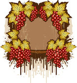 Vintage background with the grapes — Stock Vector