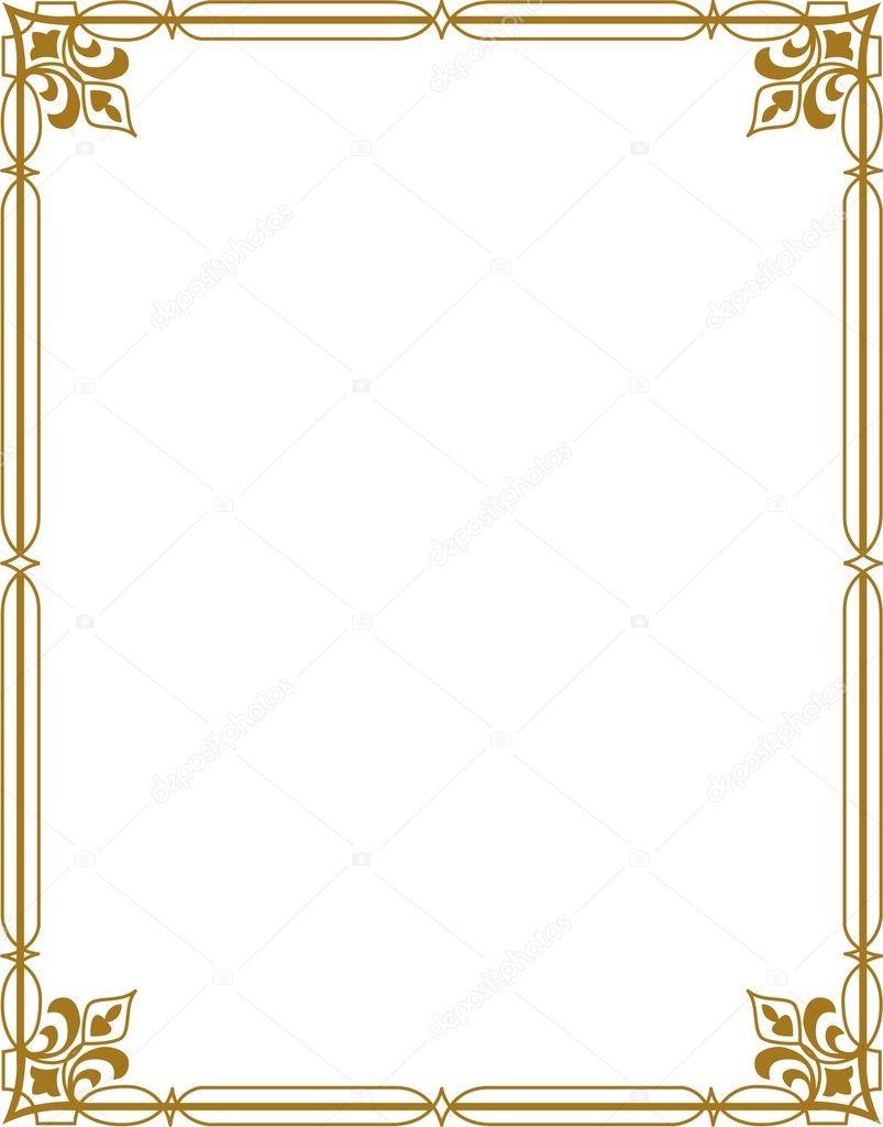 Bordure dor e image vectorielle shazad 1462260 - Type de bordure ...