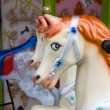 Stock Photo: Carousel Horse with Red Mane