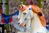 Carousel Horse with Red Mane — Stock Photo