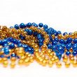 Blue and Golden Decoration Beads — Stock Photo #1449746