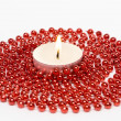 Royalty-Free Stock Photo: Candle and Decoration Beads