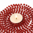 Candle and Decoration Beads — Stok fotoğraf