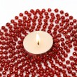 Candle and Decoration Beads — Stock fotografie