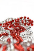 Red and Silvery Decoration Beads — Stock Photo