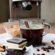 Cup of Coffee and Chocolate - Stock Photo