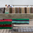 Stock Photo: Hanging CleStriped Rugs