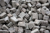 Heap of Grey Blocks for Paving — Stock Photo