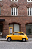 Small Old Car in the City — Stock Photo