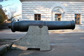 Old ship gun — Stock Photo