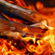 Fire wood in a fire — Stock Photo #1474407