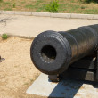 Stock Photo: Old ship gun on coastal position