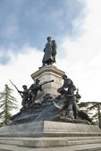Monument to general Totlebenu — Stock Photo