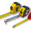 Stock Photo: Three tape measure