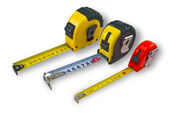 Three tape measure — Stock Photo