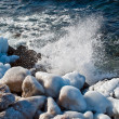 Winter sea coast — Stock Photo