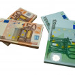 Packs of banknotes — Stock Photo