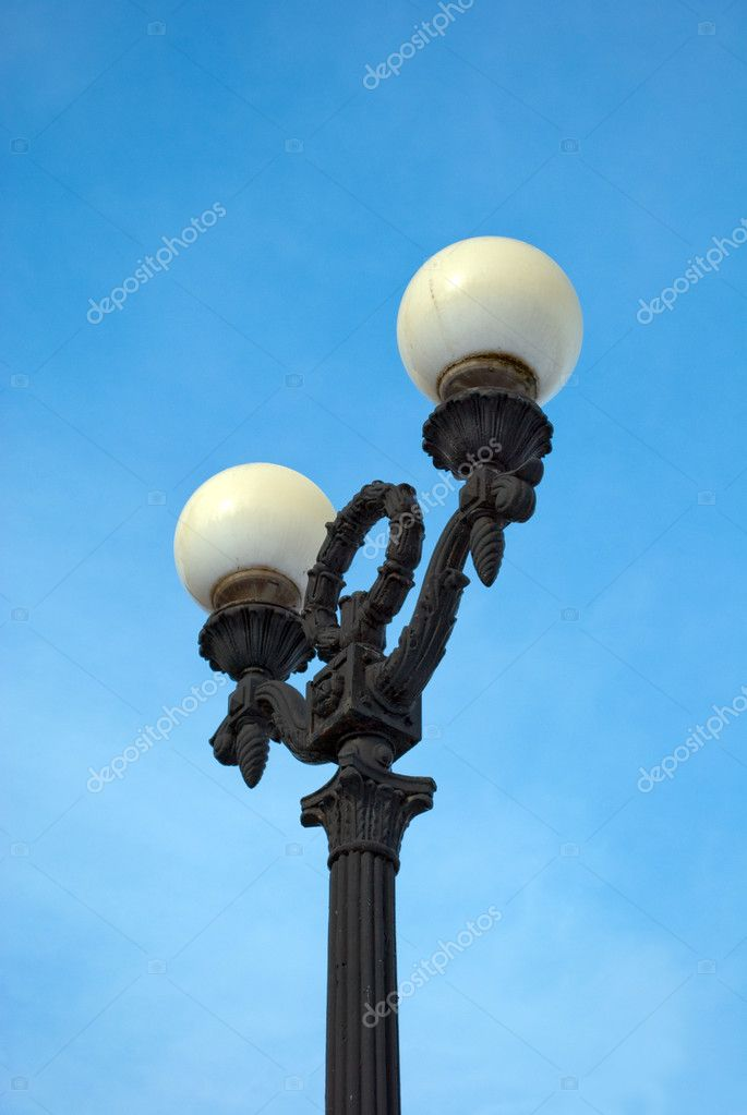 Old street lantern  on a background blue sky — Stock Photo #2113718