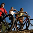 Stock Photo: Resting bicycler