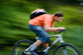 Movement of bicyclists — Stock Photo